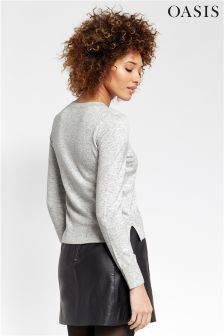 Oasis Grey Natalie Knit Top