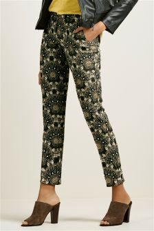 Jacquard Slim Trousers
