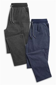 Jersey Long Bottoms Two Pack