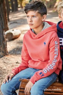 Abercrombie & Fitch Red Overhead Hoody
