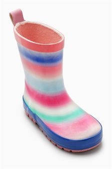 Pastel Stripe Wellies (Younger Girls)