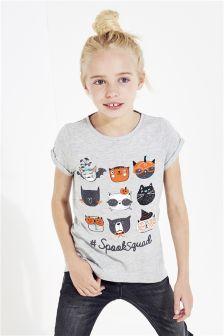 Halloween Cat T-Shirt (3-12yrs)