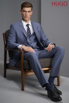 Hugo Tailoring Blue Three Piece Suit