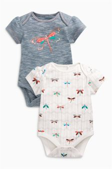 Dragonfly Bodysuits Two Pack (0mths-2yrs)