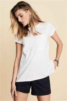 Broderie Back Tee