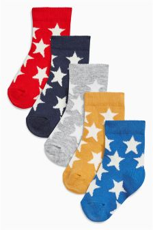 Bright Stars Socks Five Pack (Younger Boys)
