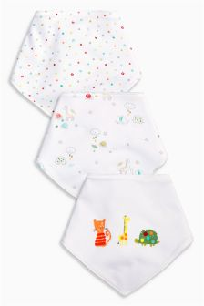Animal Dribble Bibs Three Pack