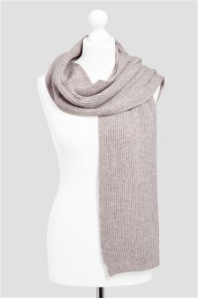 Cashmere/Wool Blend Rib Scarf