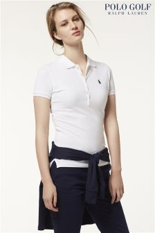 Ralph Lauren Golf White Silm Polo