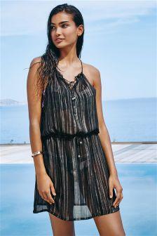 Metallic Foil Dress