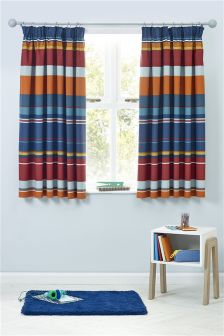 Bright Check Curtains