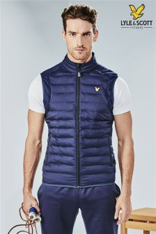 Lyle & Scott Performance Navy Moss Gilet