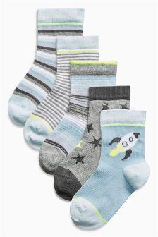 Rocket Socks Five Pack (Younger Boys)