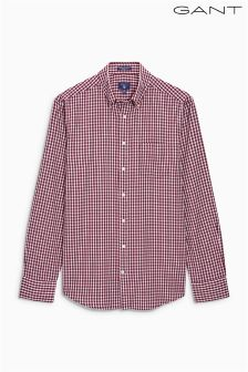 Gant Burgundy Small Check Shirt