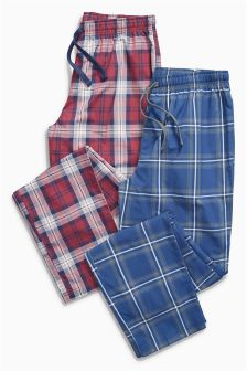 Woven Check Bottoms Two Pack