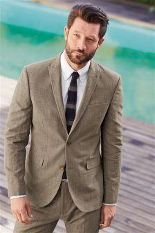 Melange Linen Blend Suit: Jacket