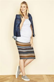 Maternity Rib Tube Skirt