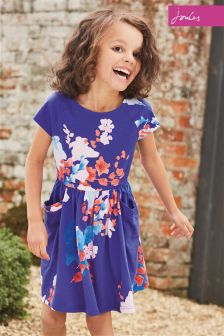 Joules Blue Jude Floral Dress