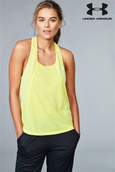 Under Armour Yellow Threadborne Fashion Tank