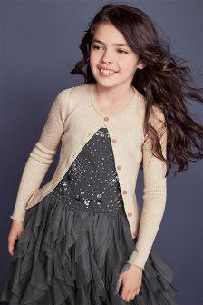 Sparkle Rib Cardigan (3-16yrs)