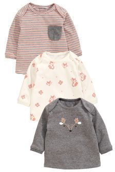 Print, Stripe And Graphic T-Shirts Three Pack (0mths-2yrs)
