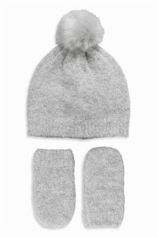 Hat And Mittens Set (Younger Girls)