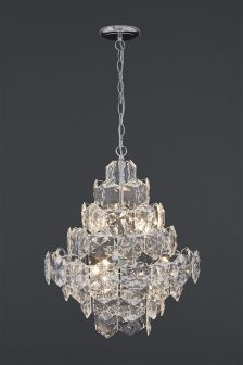 Charleston 6 Light Chrome And Clear Chandelier