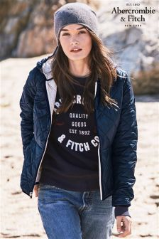 Abercrombie & Fitch Navy Light Puffer Jacket