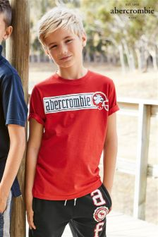 Abercrombie & Fitch Red Washed Out Tee