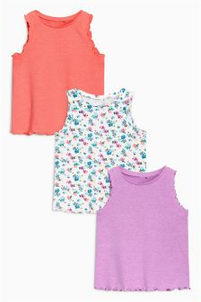 Ditsy Tops Three Pack (3mths-6yrs)