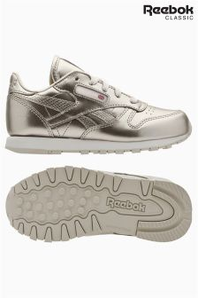 Reebok Silver Classic Leather Trainer