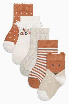 Floral Socks Five Pack (Younger Girls)