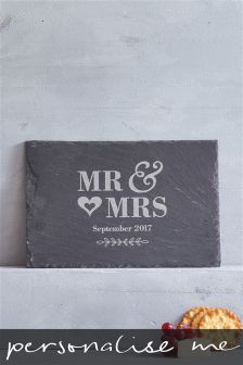 Real Slate Wedding Cheese Board Gift By Loveabode