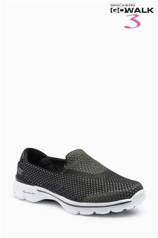 Skechers® Black Go Walk 3 Go Knit