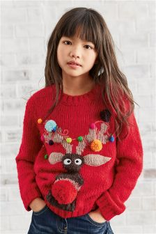 Reindeer Christmas Jumper (3-16yrs)