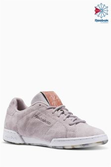 Reebok Grey/Rose Gold Metallic NPC II Trainer