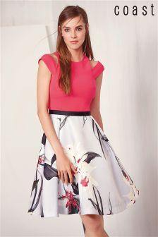 Coast Pink Cold Shoulder Dress