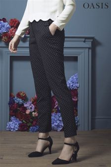 Oasis Black Spot Slim Leg Trousers