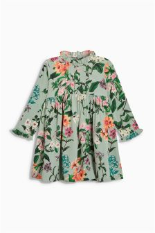 Floral Frill Sleeve Dress (3mths-6yrs)