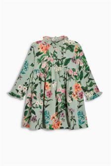 Floral Frill Sleeve Dress (3mths-6yrs)