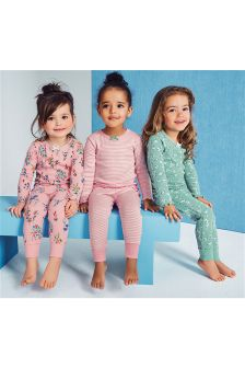 Snuggle Fit Floral Pyjamas Three Pack (9mths-8yrs)