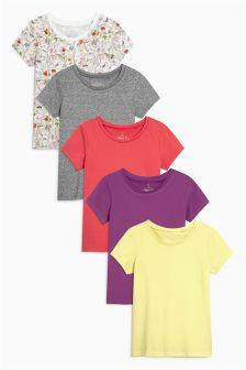 Short Sleeve T-Shirts Five Pack (3-16yrs)