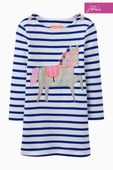 Joules Navy/White Stripe Kaye Dress