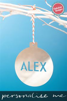Personalised Christmas Tree Decoration By Oakdene