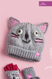 Joules Grey Cat Hat
