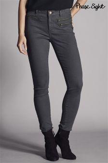 Phase Eight Grey Victoria Triple Zip Jean