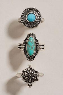 Turquoise Detail Ring Pack