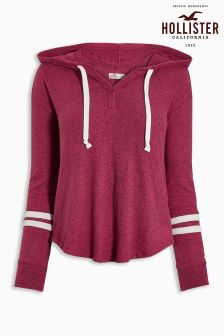 Hollister Red Fuzzy Crew