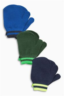 Mitts Three Pack (Younger Boys)
