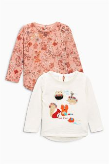 Ditsy Character Tops Two Pack (3mths-6yrs)